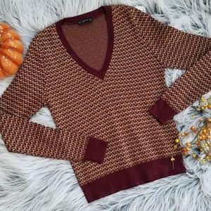 ZARA Knit V-Neck Sweater